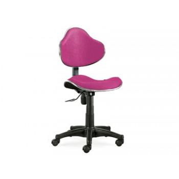 Cadeira de Escritório Giratória Encosto Médio Regulável Rosa Q-Connect