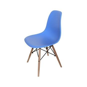 Cadeira De Visitante Madeira Polipropileno Tower-pp-az Azul