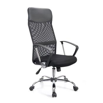 Cadeira de Direcção Rede e Tecido Preto Gino-Ane