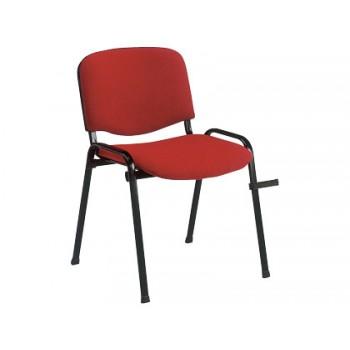 Cadeira De Escritório Revestida a Tecido Vermelho