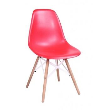 Cadeira De Visitante Madeira Star-Ro ABS Vermelha