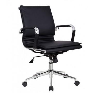 Cadeira de Direcção Pele Sintética AMSTERDAM-GSNE Preta