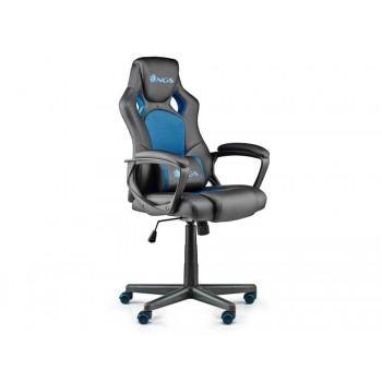 Cadeira Gaming Ergonómica Giratória Ajustável em altura Azul NGS