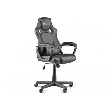 Cadeira Gaming Ergonómica Giratória Ajustável em altura Cinza NGS