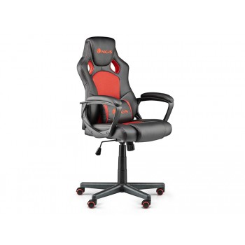 Cadeira Gaming Ergonómica Giratória Ajustável em altura Vermelha NGS