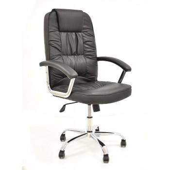 Cadeira de Direcção com Encosto Alto Paolo Pele Sintética Preta