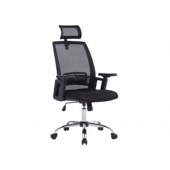 Cadeira de Direcção com Encosto Alto Regulável Ergonómica Base Metal Preta Q-Connect