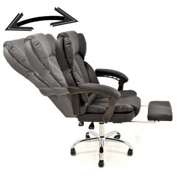 Cadeira de Direcção com Inclinação Pele Sintética Sintra Preto