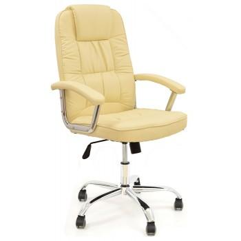 Cadeira de Direcção com Encosto Alto Paolo Pele Sintética Beije