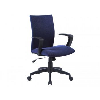 Cadeira de Escritório Base Nylon Regulável em Altura Tecido Azul Q-Connect