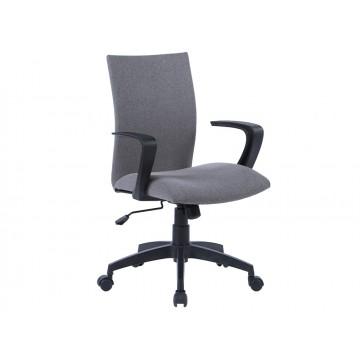 Cadeira de Escritório Base Nylon Regulável em Altura Tecido Cinza Q-Connect