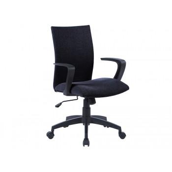 Cadeira de Escritório Base Nylon Regulável em Altura Tecido Preta Q-Connect