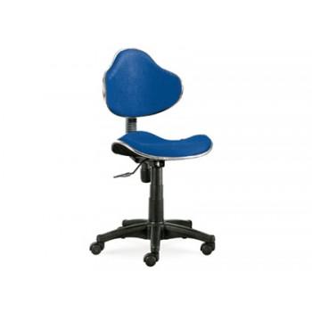 Cadeira de Escritório Giratória Encosto Médio Regulável Azul Q-Connect