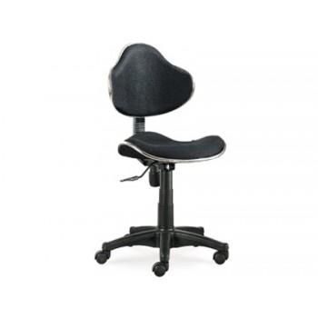 Cadeira de Escritório Giratória Encosto Médio Regulável Preta Q-Connect