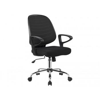 Cadeira de Escritório Giratória Regulável em Altura com Braços Preta Q-Connect