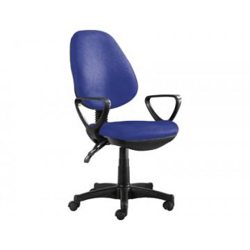 Cadeira de Escritório Encosto Alto com Rodas e Braços Azul Q-Connect