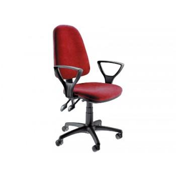 Cadeira de Escritório Giratório Com Encosto Alto e Braços Vermelha Q-Connect