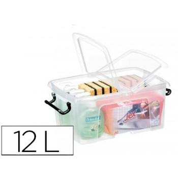 Caixa de Armazenagem em Plástico 12Litros Transparente