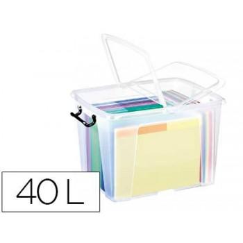 Caixa de Armazenagem em Plástico 40Litros Transparente