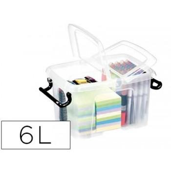 Caixa de Armazenagem em Plástico 6Litros Transparente