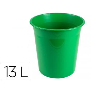 Cesto de Papéis em Plástico 13 Litros Opaco Verde