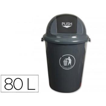 Balde do Lixo em Plástico Cinza Q-Connect