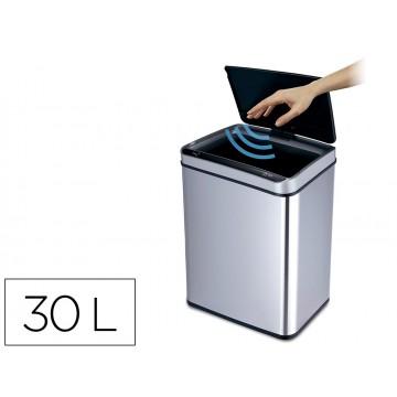 Cesto de Papéis Com Sensor Automático Metálico Rectangular 30 Litros