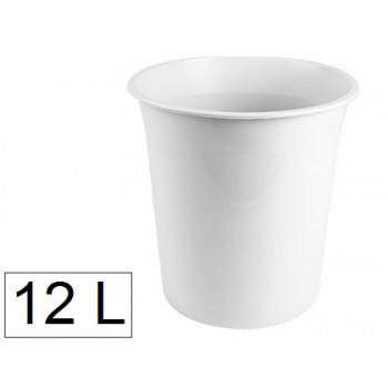 Cesto de Papéis em Plástico 12 Litros Opaco Cinza
