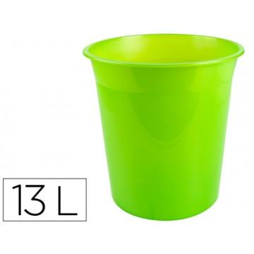 Cesto de Papéis em Plástico 13 Litros Translucido Verde