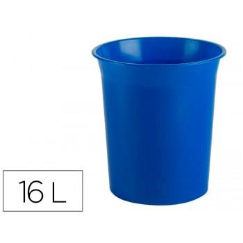 Cesto de Papéis em Plástico 16 Litros Anti Microbiana Sanitized Azul