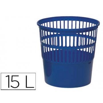 Cesto de Papéis em Plástico Azul