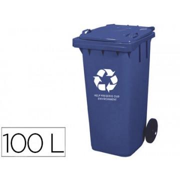 Contentor em Plástico 100 Litros Azul Q-Connect