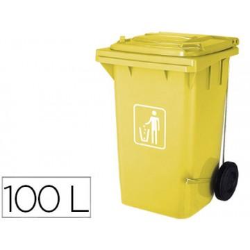 Contentor em Plástico 100Litros Amarelo Q-Connect