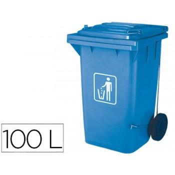 Contentor em Plástico 100Litros Azul Claro Q-Connect