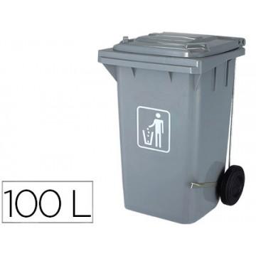 Contentor em Plástico 100Litros Cinzento Q-Connect