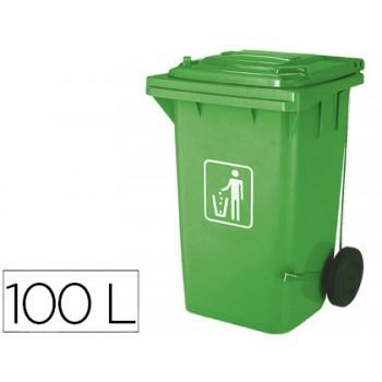 Contentor em Plástico 100Litros Verde Q-Connect