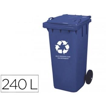Contentor em Plástico 240Litros Azul Q-Connect
