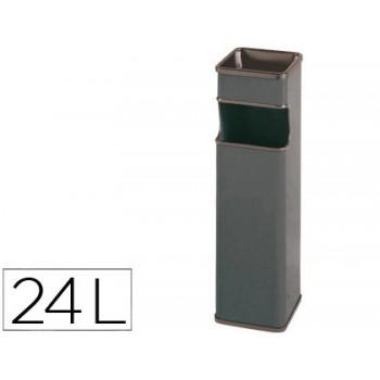Cinzeiro Papeleira Quadrado 403 Cinza Metálico 65x18x18cm Sie