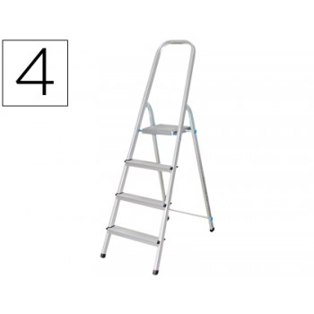 Escada de Alumínio com 4 Degraus Q-Connect