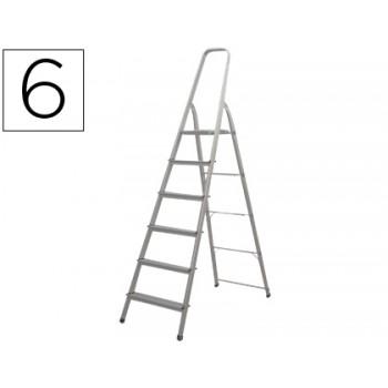 Escada de Alumínio com 6 Degraus Q-Connect