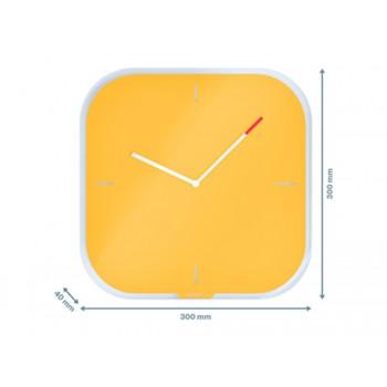 Relógio de Parede em Vidro Leitz Cosy Amarelo