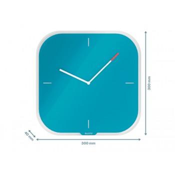 Relógio de Parede em Vidro Leitz Cosy Azul
