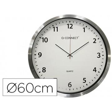 Relógio de Parede Redondo em Plástico Cromado 60cm Q-Connect