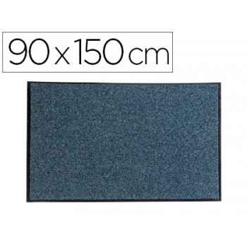 Tapete De Solo Anti-Pó Texturizado Ecológico 90x150cm Cinza Paperflow