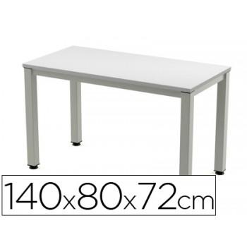 Mesa de Escritório Executivo Alumínio /Cinza 140x80cm Rocada