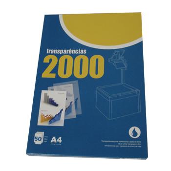 Transparências A4 para Impressora Inkjet 50 Folhas com Tira Removível