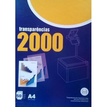 Transparências A4 para Impressora Laser Preto 50 Folhas