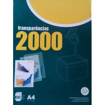 Transparências A4 para Fotocopiadora 100 Folhas
