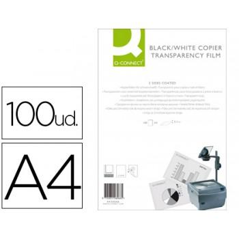 Transparências A4 para Fotocopiadora 100 Folhas Q-Connect