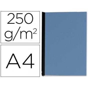 Capa De Encadernação A4 250gr Imitação Pele Azul 100 Unidades